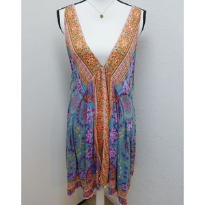 Free People Floral Handkershief Tunic Size M